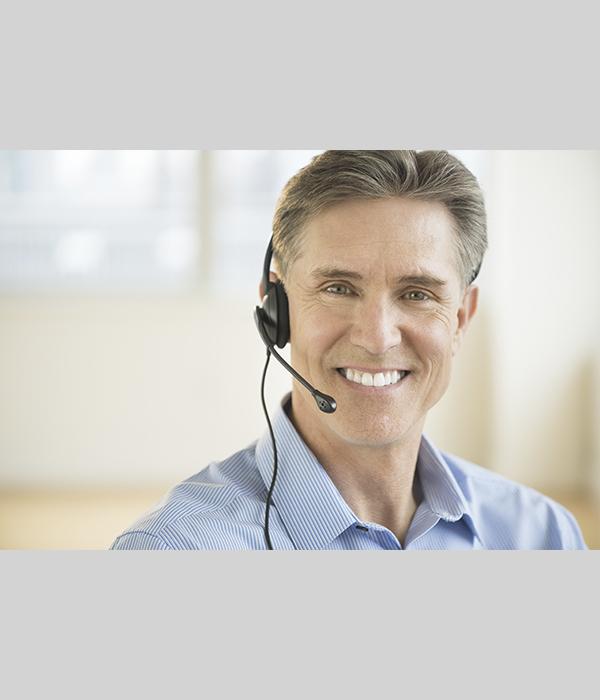 Smiling Sales Representative